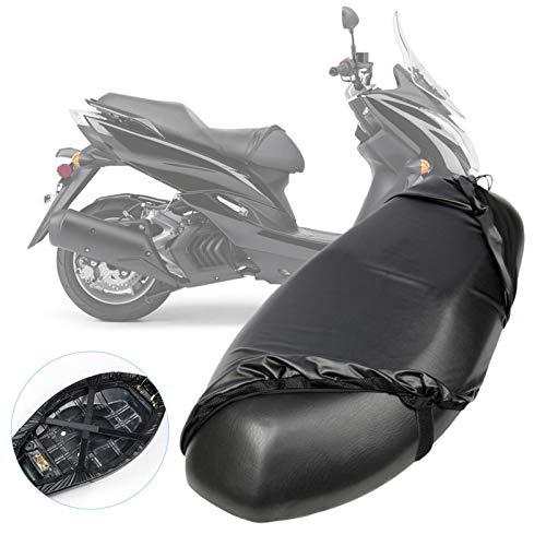 Funda De Asiento De Motocicleta, Impermeables Fundas De Asiento para Moto, Protector De UV Resistente Al Desgaste Utilizable De Doble Cara Funda De Cojín De Asiento Scooter De Motocicleta