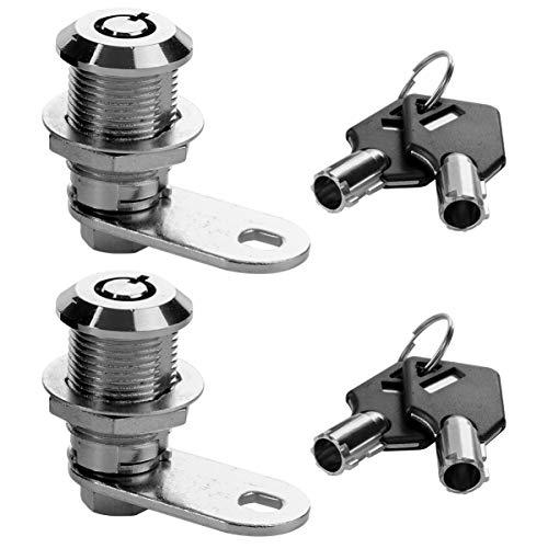 DOITOOL 2 cerraduras tubulares con llave para buzón de correo, montaje en pared para zapatero, archivador, caja de seguridad