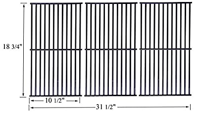 P5445C (3-Pack) Porcelain Steel Cooking Grid Grate Replacement Stainless Steel Cooking Grill Grid Grate for Master Centro, Charbroil, Sam's Club, Members Mark, Jenn-Air, and Other Model Grills