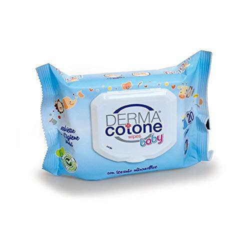 Dermacotone Salviette Baby Fragranza Talco, 20 Salviettine