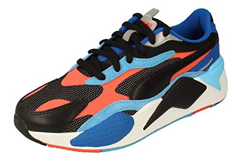 Puma RS-X3 Level UP Hombre Trainers 373169 Sneakers Zapatos (UK 6 US 7 EU 39, puma Black Hot Coral 02)