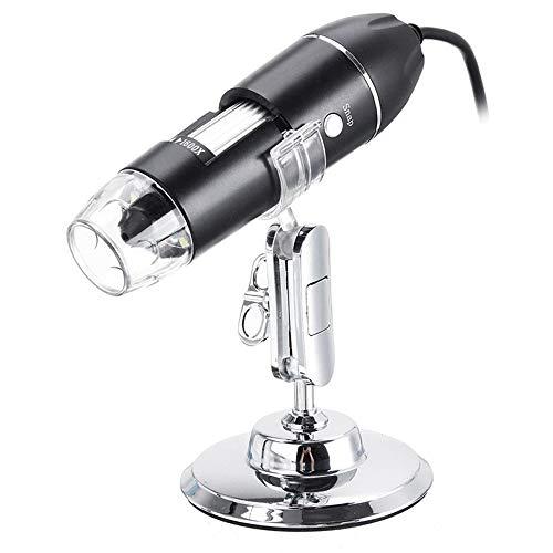 Walmeck- Microscopio Digital inalámbrico 1600X USB de Carga Lupa de Mano Cámara...