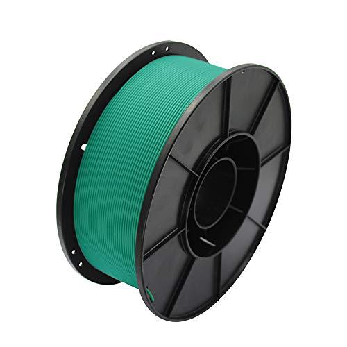 3D Drucker Filament 1.75mm, PLA Filament-3d-Druckmaterialien, 1kg Spule(2.2lbs), Genauigkeit +/- 0,02 mm, Hohe Zähigkeit PLA + (Grün)