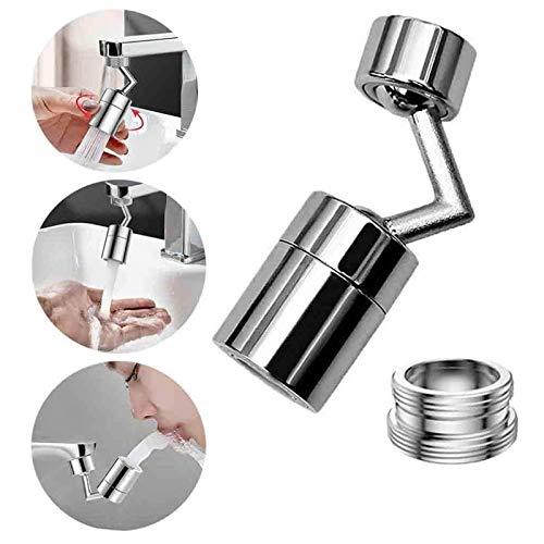 Universal Spritzfilter-Wasserhahn, 720° Drehbarer Wasserauslass-Wasserhahn-Sprühkopfadapter, Küchenblasen-Hahnkopf-Sprühdüse mit 4-lagigem Netzfilter und 2-O-Auslaufsicherheit (1 Stück)