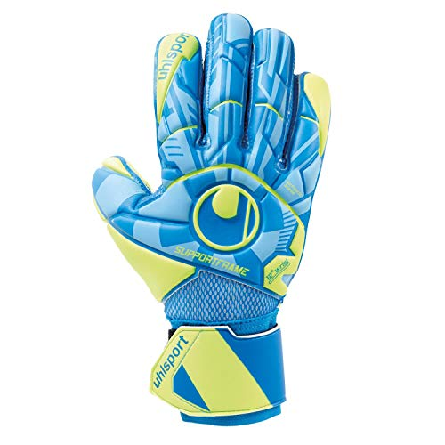 uhlsport Unisex– Erwachsene Control Soft SF Torwarthandschuhe, Fußballhandschuhe, Radar blau/Fluo gelb/schw, 9,5