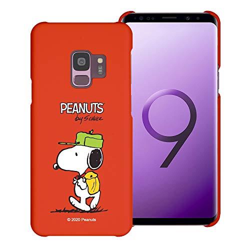 """Galaxy S9 ケース と互換性があります Peanuts Snoopy ピーナッツ スヌーピー ハード ケース/艶消しの硬い スリム スマホ カバー 【 ギャラクシー S9 ケース (5.8"""") 】 (キャンプ スヌーピー 袋) [並行輸入"""