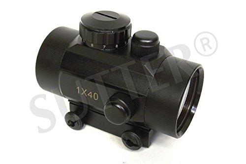SUTTER RedDot Leuchtpunktvisier 1x40, für 11mm Schienen/Reflexvisier Zielvisier Zielfernrohr