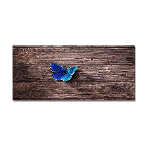 WIVION Lange Küchenmatte Rustikale Weltkarte rutschfeste Badteppichmatte Gummirücken Fußmatte Runner Teppiche Badteppiche Für Badewanne Waschbecken Küche,E,40x100cm(16x39inch)