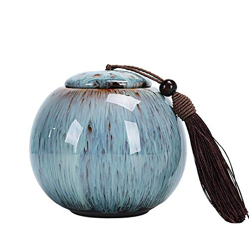 AQWESP Urna de cremación Urna de Cenizas funerarias para cremación Humana Titular de Cenizas para Mascotas Recuerdo Palo de Cenizas Urnas de cerámica Ataúd para Perro Gato Urna de pájaro-A