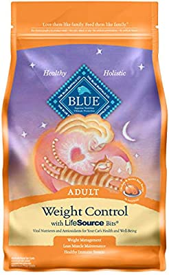 Blue Buffalo Weight Control Natural Adult Dry Cat Food, Chicken & Brown Rice 3-lb