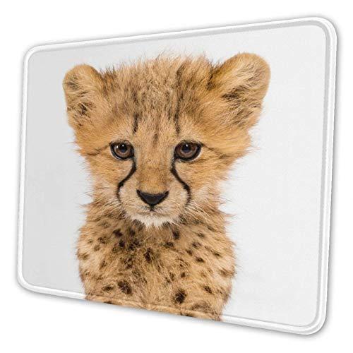 En un Cheetah Cubs de Tres Meses de Edad, Alfombrilla de ratón, Alfombrilla de Goma Antideslizante, Accesorios de Escritorio, 18 x 22cm