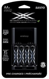 eneloop XX 2500mAh Typical / 2400 mAh Minimum, High Capacity, 4 Pack AA Ni-MH Pre-Charged Rechargeable Batteries with 4 Position Charger (B009LU9150) | Amazon price tracker / tracking, Amazon price history charts, Amazon price watches, Amazon price drop alerts