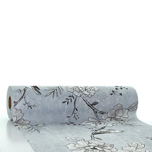 Sovie HORECA Tischläufer Maylin in hellgrau aus Linclass® Airlaid 40 cm x 24 m, 1 Stück