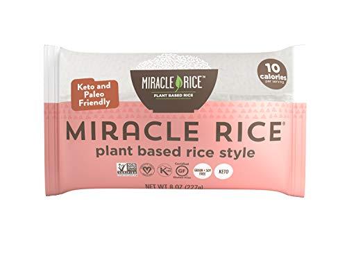 Miracle Noodle Shirataki Konjac Rice, 8 oz (Pack of 6), Zero Net Carbs, Low Calorie, Gluten Free, Soy Free, Keto Friendly