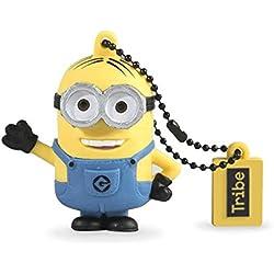Tribe - Chiavetta USB 16 GB Dave - Memoria Flash Drive 2.0, Personaggio Originale Minions, Pennetta USB Compatibile con Windows, Linux e Mac