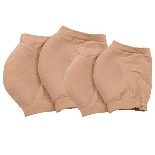 SéCurité Sportive Hydratantes Chaussettes, Hiver antifissurant Chaussettes à Talon Ventilé Silicone Gel avec Bout Ouvert for Les Femmes, 1 Paire Taille S (34-39) (Color : Skin Color)