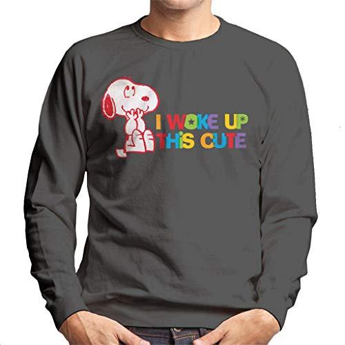 Peanuts I Woke Up This Cute Snoopy Heren Sweatshirt