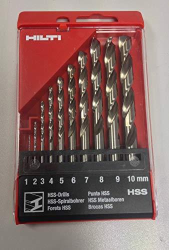 Hilti HSS Spiralbohrer Set 1 -10 mm Bohrer Metallbohrer