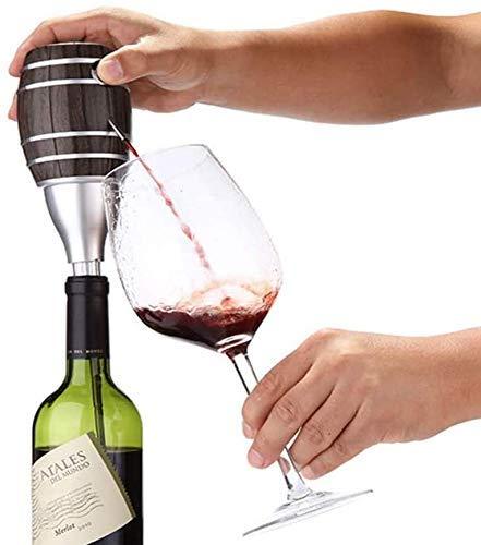 LYMHGHJ Aeratore per Vino Elettrico, Botte di Vino per Cereali in Legno Creativo, Pompa per Decanter per Vino, Dispenser per Vino e liquore, per Matrimoni/Compleanni/Feste/Natale