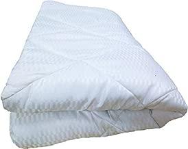 AVI Soft Micro Polyester Light Weight 300 GSM AC Single Bed Comforter/Blanket/Quilt/Duvet -60x90 - Stripe White