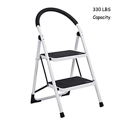 Lucky Tree Folding Anti-slip Step Ladders 330 lbs Capacity