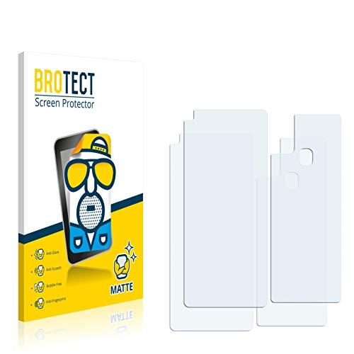 BROTECT 2X Entspiegelungs-Schutzfolie kompatibel mit Samsung Galaxy A21s (Vorder + Rückseite) Bildschirmschutz-Folie Matt, Anti-Reflex, Anti-Fingerprint