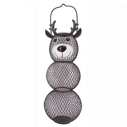 Ctzrzyt Outdoor Wild Bird Feeder, Metal Hanging Bird Feeder for Garden Yard Outside Decoration (Reindeer)