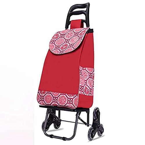 Carrito de compras plegable, carritos de cocina plegables Carrito de carrito grande y liviano con ruedas delanteras giratorias, bolsa impermeable desmontable, capacidad máxima de 50 kg Carritos de ayu