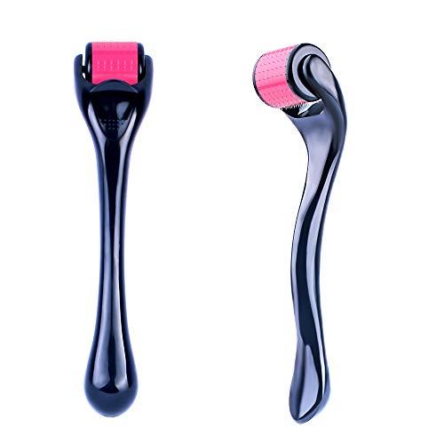 Derma Roller 0,25 mm 192 Aço Inoxidável Agulha Cosmética para Agulha de Micro Agulha de Aço Inoxidável para Rugas Beleza Uso Doméstico Com Estojo de Armazenamento Dermaroller 0,25 agulhas reais