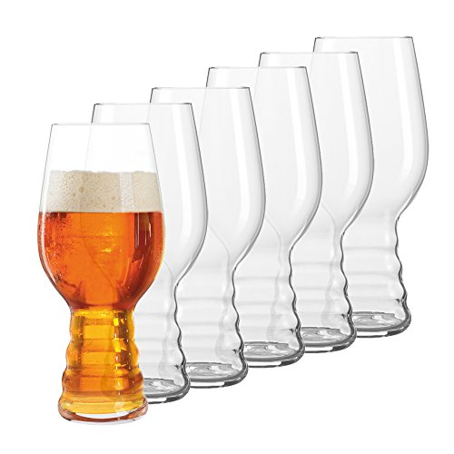 Spiegelau & Nachtmann, 6-teiliges Kraftbier-Glas-Set, Indian Pale Ale, Kristallglas, 4991782, Craft Beer Glasses