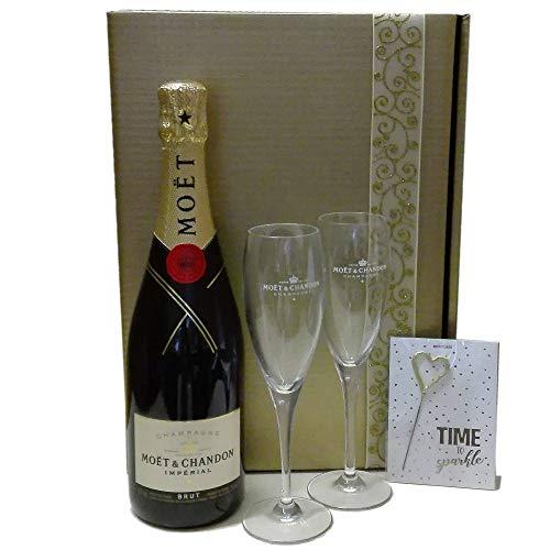 Moet & Chandon Geschenk-Set mit Gläsern und Glückwunschkarte