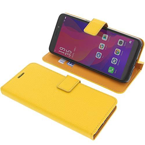 foto-kontor Tasche für Vernee X2 Book Style gelb Schutz Hülle Buch