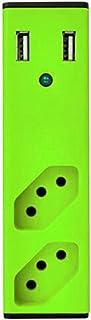 Carregador USB com Filtro de Linha - Bem ligado Preto/Verde - Enermax, 315020020100