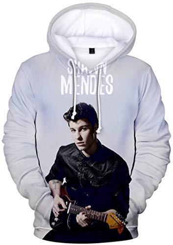 Silver Basic 3D Druck Shawn Mendes Pullover Damen Youth Hoodie 98 Musik-Fanbekleidung für Mädchen Gitarre B M