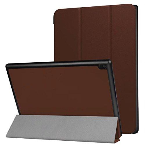 XITODA Lenovo Tab 410Funda, Ultra Slim PU Cuero Smart Carcasa con función Stand Funda para Lenovo Tab 410(tb-x304F) Tablet de 10,1Carcasa Case Protector marrón