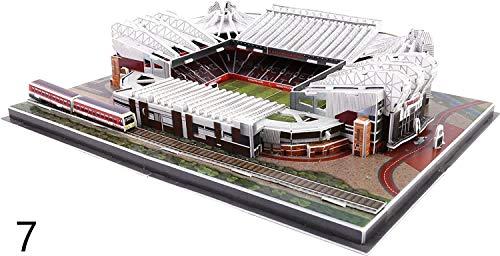 Soul hill 3D Puzzle ThreeR03Dimensional mundialmente Famoso Campo de fútbol for niños for niños de Bricolaje Spell Insertar Juguete (Anfield) zcaqtajro (Size : Estadio Old Trafford)