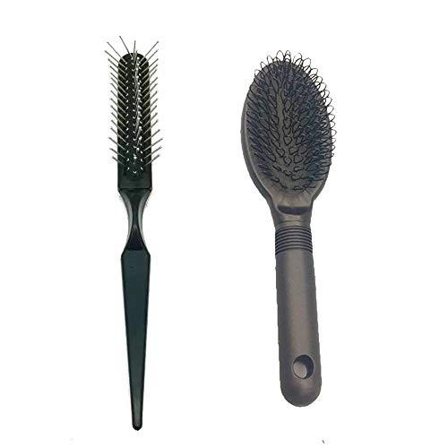 Mufly Cepillo para extensiones de cabello y Peine de cola, Cepillo de Peine...