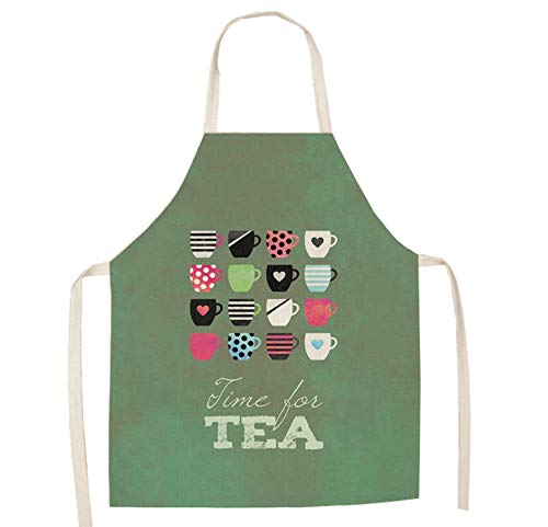 JZZCIDGa Kleidung Personalisierte Backschürzen Tassen Und Buchstaben Weiche Baumwollwäsche Für Frauen Männer - Kochchef Schürze - Ideale Geschenkidee Für Damen