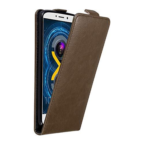 Cadorabo Hülle für Huawei GR5 2017 / Honor 6X in Kaffee BRAUN - Handyhülle im Flip Design mit Magnetverschluss - Hülle Cover Schutzhülle Etui Tasche Book Klapp Style