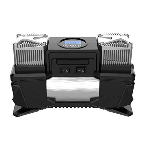 Suading Bomba de Inflado de NeumáTicos Digital PortáTil de Doble Cilindro Montado en VehíCulo de 12 V, Compresor de Aire para NeumáTicos de Alta Potencia, Bomba de Aire para AutomóVil