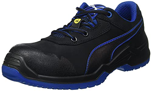 PUMA 2231569 64.422.0-40 Sicherheitsschuh Argon Blue Low Gr.40 schwarz/blau Leder S3 ESD SRC EN20345