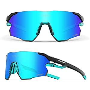 Sports Sunglasses for Men,Polarized Sunglasses for Women,Sports Sunglasses for Cycling Hiking Fishing Golf Running TR71