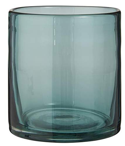 IB Laursen Kerzenhalter Windlicht für Teelicht blau mundgeblasenes Glas