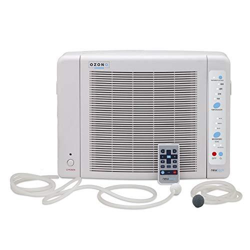 BAYSER - Generador de Ozono Aire y Agua Dual Pure 600mg/h, Temporizador hasta 8h con F.HEPA y Carbono Activo. Purificador de Aire con 3 Potencias. Desinfecta, Elimina Virus, Bacterias, Olores e Ioniza