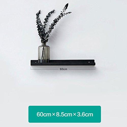 Étagère Lingyun Support en fer ➫ Décoration de salle de séjour ❀ Support à fleurs ❁ Décoration murale en métal multifonction ❁ Support à fleurs ❀ Présentoir (Couleur : Blanc, taille : 60*8.5*3.6CM)