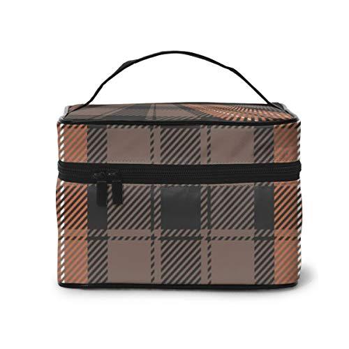 Bolsas de cosméticos de Viaje Gráfico Vectorial de Cuadros Bolso de cosméticos escocés con Cremallera, artículos de tocador/Bolsa de Viaje para cepillos Accesorios de joyería