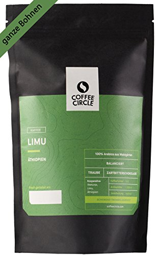 Coffee Circle | Premium Kaffee Limu | 350g ganze Bohne | Blumiger Filterkaffee aus äthiopischen Waldgärten | 100% Arabica | fair & direkt gehandelt | frisch & schonend geröstet