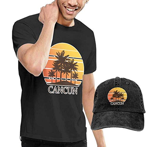 huatongxin Cancún México Sunset and Palm Trees - Camiseta...