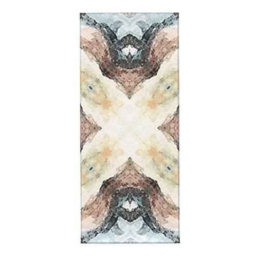 Toallas de microfibra, toalla facial, diseño de azulejos azulejo azul topo, diseño sutil de acuarela, súper suave, superabsorbente, secado rápido para baño, mano, cara, gimnasio y spa, 30 x 70 cm
