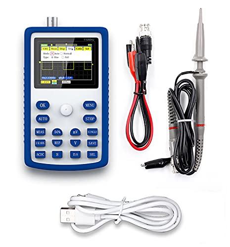 Yuqiyu FNIRSI-1C15 110 MHz Ancho de Banda osciloscopio Digital 500 ms/s tasa de muestreo Multiusos Multiusos de medición de osciloscopios portátil portátil